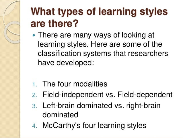 four learning styles teac21 Look into the four learning styles nt, st, sf, nf.