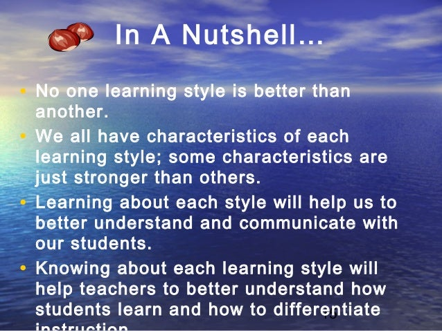 learning styles personality types It is essential to understand the role learning styles play in education  understanding the relationship between student personality and learning.