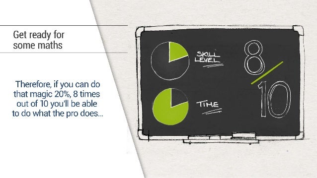 Get ready for some maths  Therefore,  if you can do that magic 20%,  8 times out of 10 you'll be able  to do what the pro ...