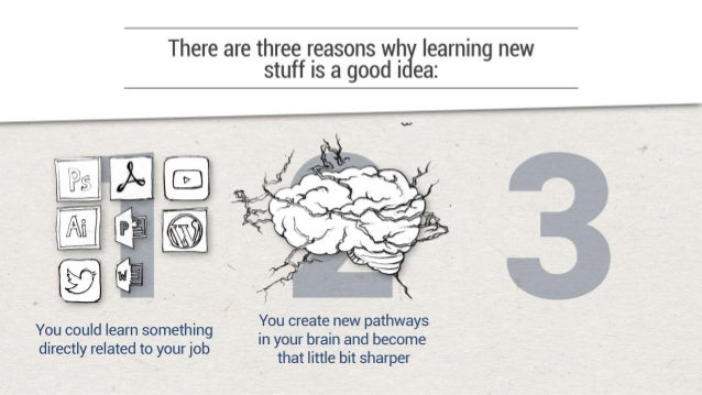 There are three reasons wh learning new stuff is a good I ea:             You create new pathways in your brain and become...