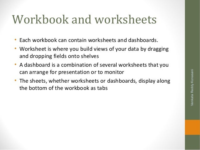 Learning Tableau Data Graphs Filters Dashboards and Advanced fe – Workbook Vs Worksheet
