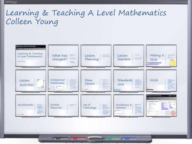 Learning Teaching A Level Post 16 Mathematics
