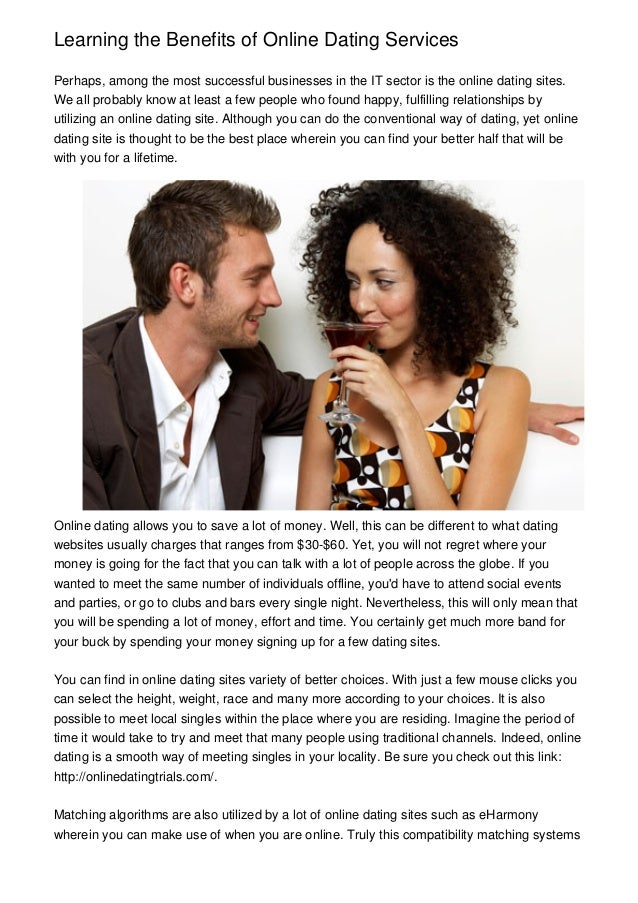 Benefits of online dating services