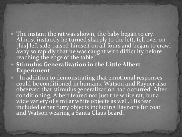 who does your tiny albert experiment