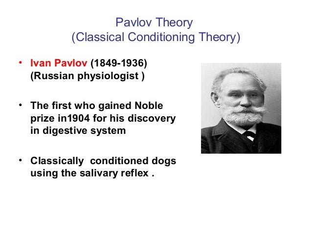 the history and application of ivan pavlovs classical conditioning Ivan pavlov studied the behavior of dogs and developed a theory of classical conditioning, which explains how people associate two stimuli in their minds and react to one of them as though it was.