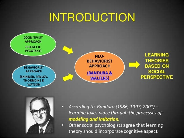 social learning theory in relation to Social learning theory refers to any behavioristic approach in social science that  has a cognitive or behavioral focus social learning theory combines the.