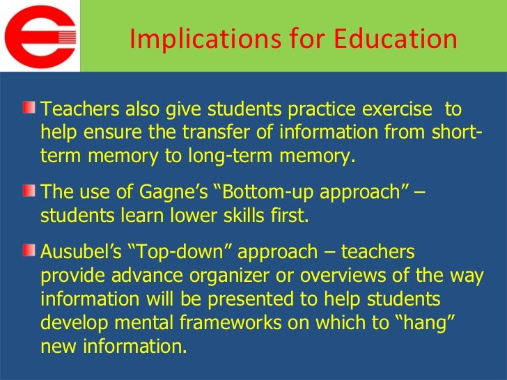 Bottom up education theory