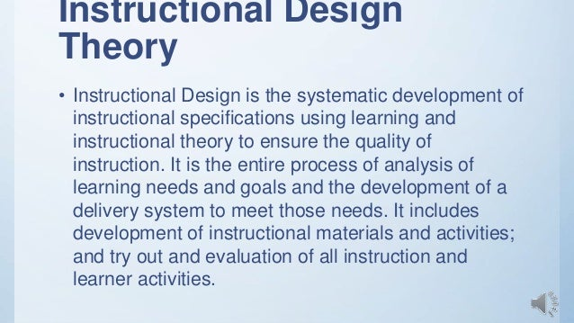 Learning Theories Of Instructional Design