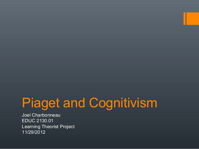 Piaget and CognitivismJoel CharbonneauEDUC 2130.01Learning Theorist Project11/29/2012