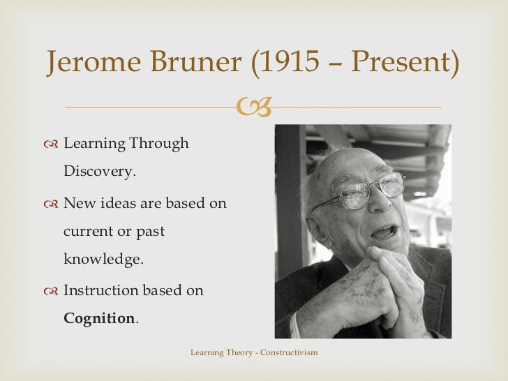 bruner constructivist theory Cognitive constructivism   behavior led educational psychologists such as jean piaget and william perry to demand an approach to learning theory that paid more.