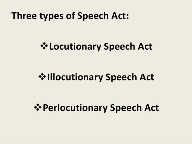 Learning the types of speech act