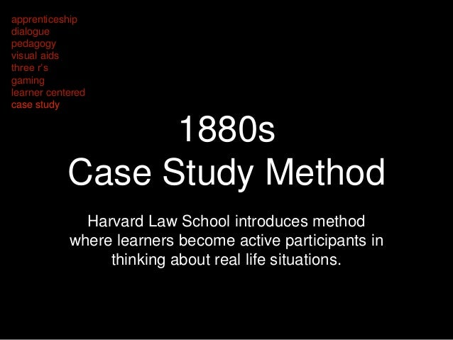 harvard law school case study method