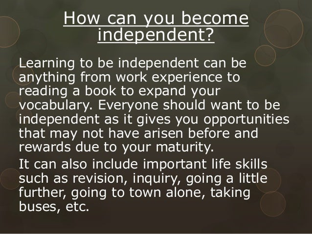 how to become emotionally independent