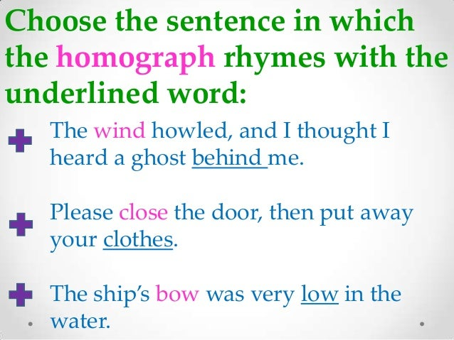 Learning to fly with homonyms