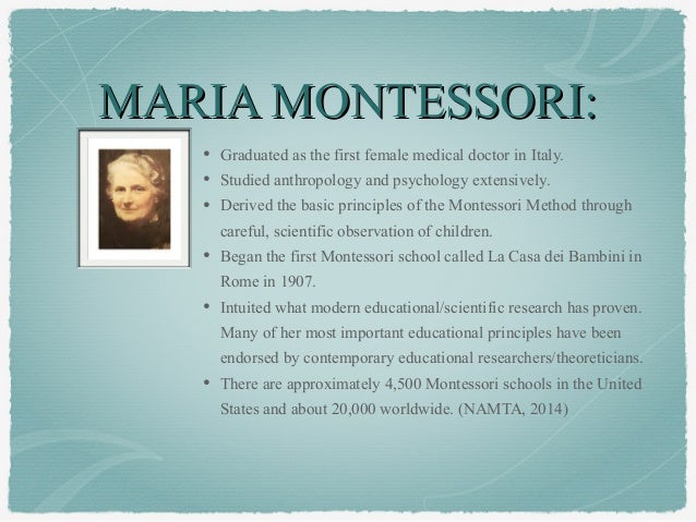 Biography of Dr. Maria Montessori