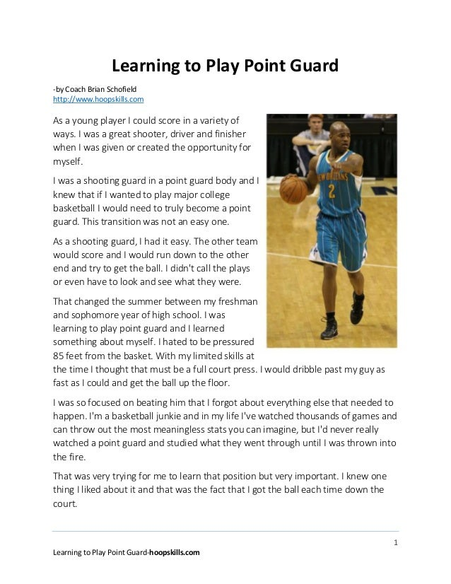 how to play the point guard position