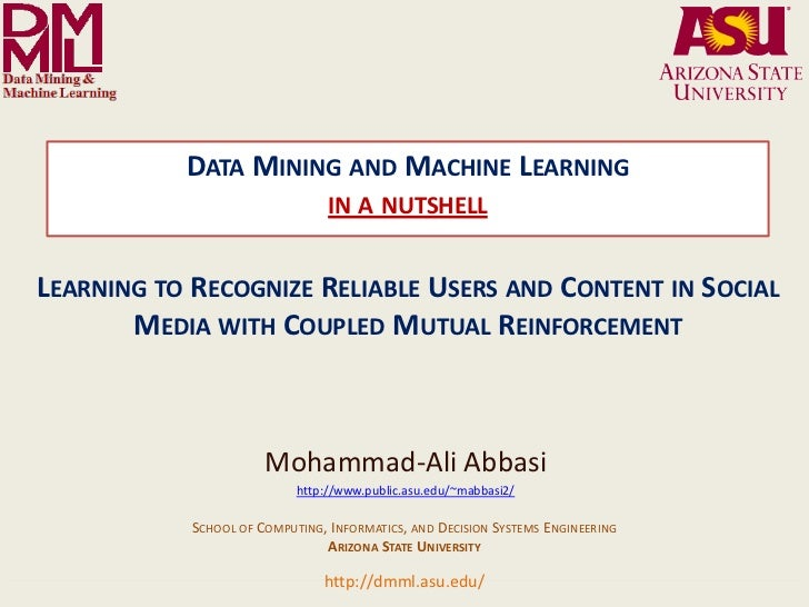 DATA MINING AND MACHINE LEARNING                                                                   IN A NUTSHELLLEARNING T...