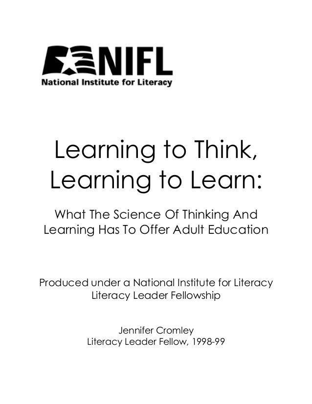 Learning to Think, Learning to Learn: What The Science Of Thinking And Learning Has To Offer Adult Education  Produced und...