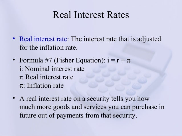 formula of rate of interest - Template