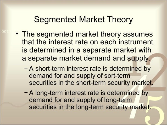421 0011 0010 1010 1101 0001 0100 1011 Segmented Market Theory • The segmented market theory assumes that the interest rat...