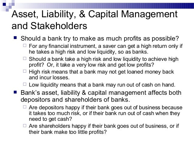 Learning Unit 18 Assets Liabilities And Capital Management