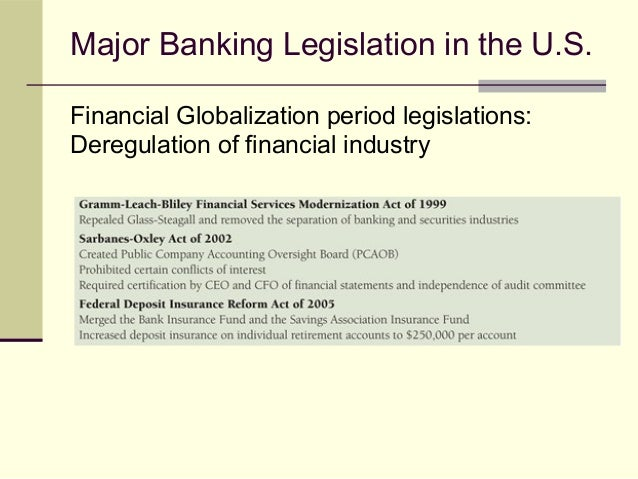 lack of regulation in banking industry The banking sector comprises commercial banks, which are licensed to conduct  the business of  against the potential loss of their deposits, should a member  financial institution fail  directory of regulated financial holding companies (4 ).
