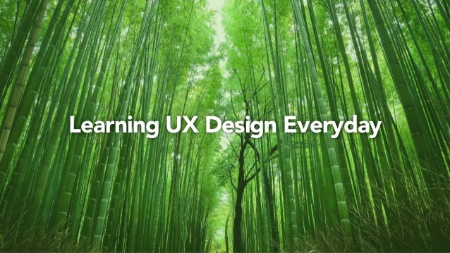 Learning UX Design Everyday