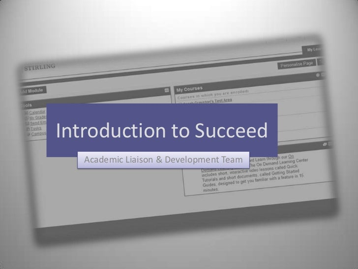 Introduction to Succeed<br />Academic Liaison & Development Team<br />
