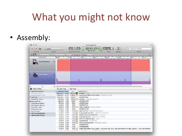 What you might not know • Summary: Running time, ms CPU usage, % Intrinsics 2764 19 Assembly 3664 20 FPU 6209 25-28 FPU au...