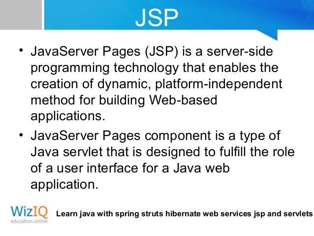 Best way to learn JSP | Oracle Community