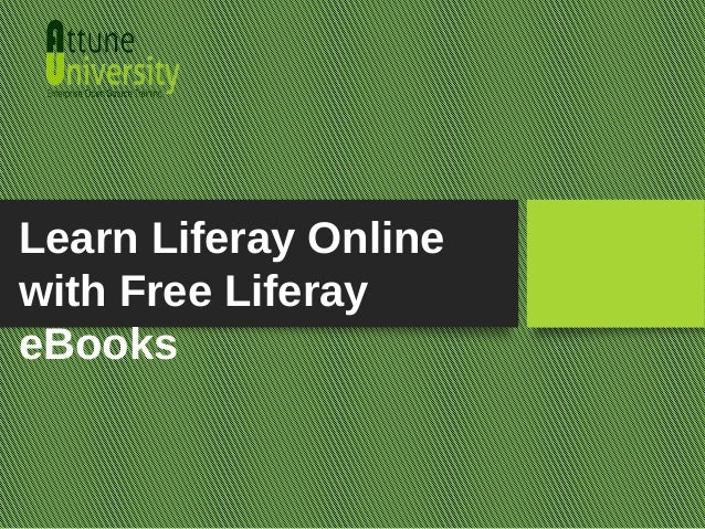 Learn Liferay Online with Free Liferay eBooks