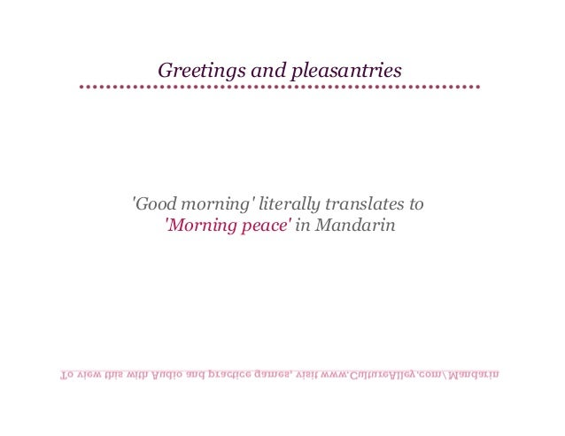 Basic mandarin chinese lesson 5 greetings and pleasantries greetings m4hsunfo
