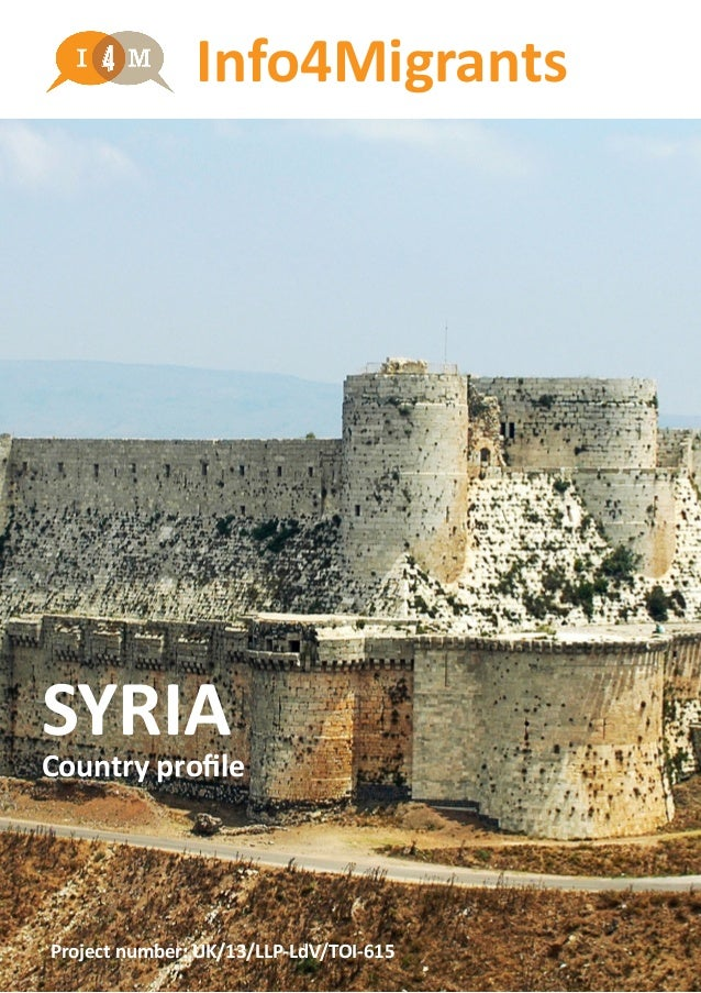 SYRIA Country profile Info4Migrants Project number: UK/13/LLP-LdV/TOI-615