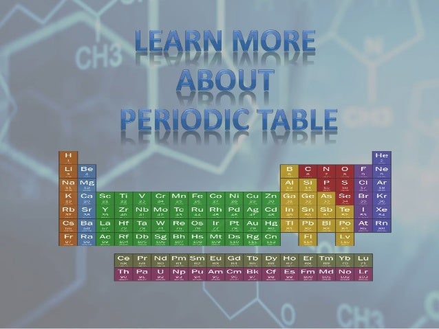 Learn more about periodic table periodic table is a tabular arrangement of elements ordered by their atomic number urtaz Gallery