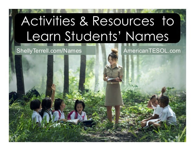 Activities & Resources to Learn Students' Names ShellyTerrell.com/Names AmericanTESOL.com