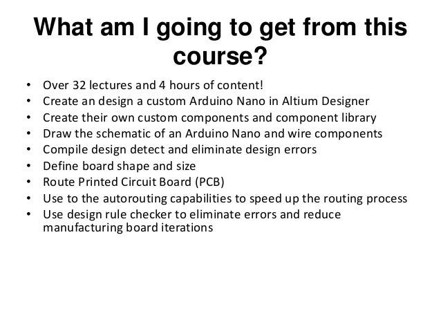 Learn pcb design by designing an arduino nano in altium
