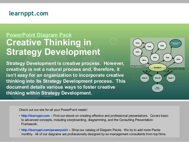 learnppt.comPowerPoint Diagram PackCreative Thinking in                                                                   ...
