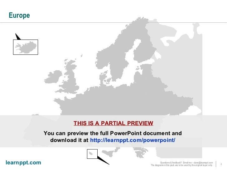 map of emea powerpoint