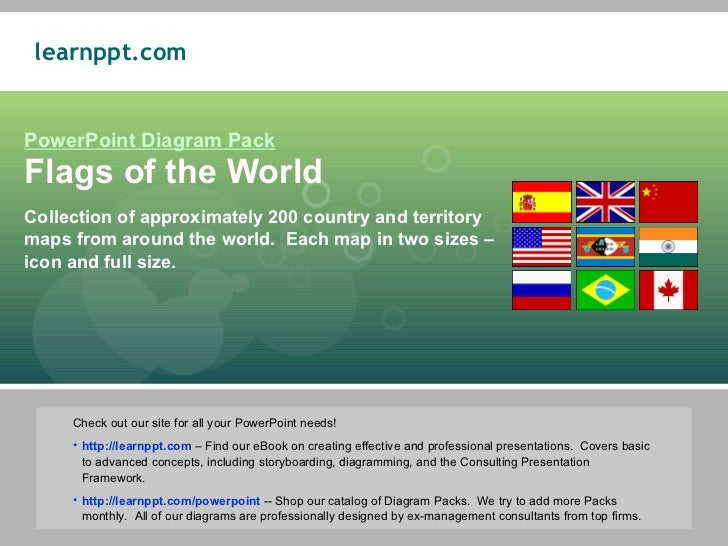 flags of the world in powerpoint