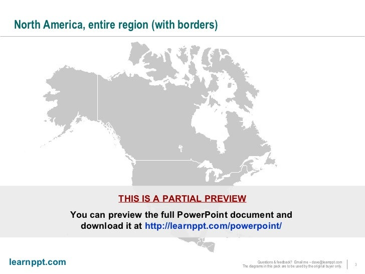 Powerpoint Maps Of North America