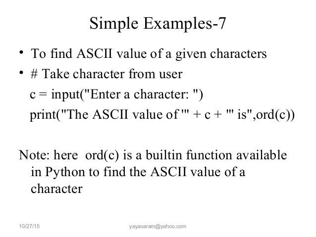 how to change a characters ascii value python