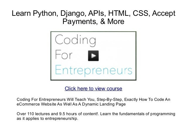 Learn python django apis html css accept payments more learn python django apis html css accept payments more malvernweather Images
