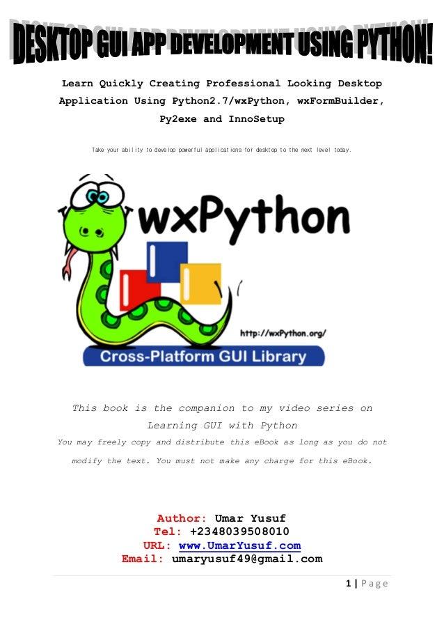 desktop gui app development using python rh slideshare net