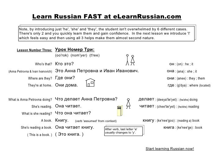 Learn Russian As Second