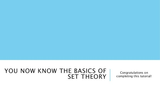 When should I start learning Set Theory? - Stack Exchange