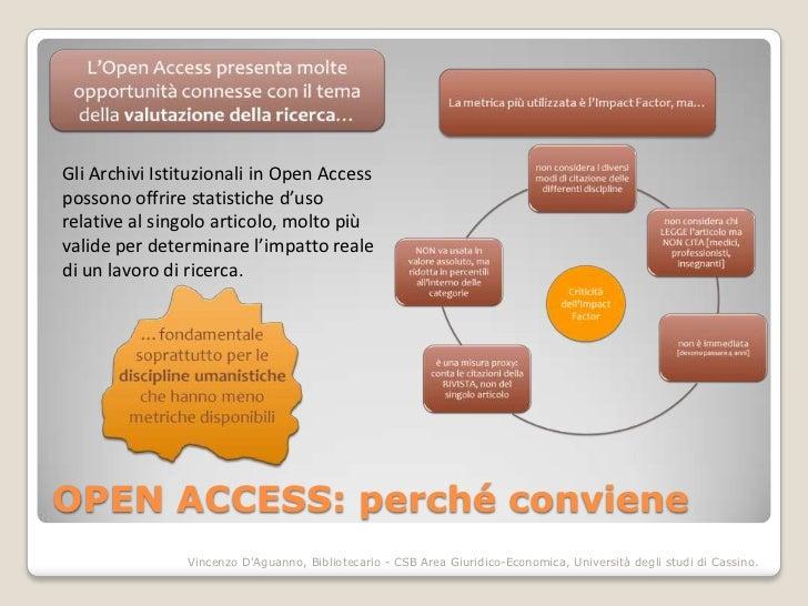 Gli Archivi Istituzionali in Open Accesspossono offrire statistiche d'usorelative al singolo articolo, molto piùvalide per...