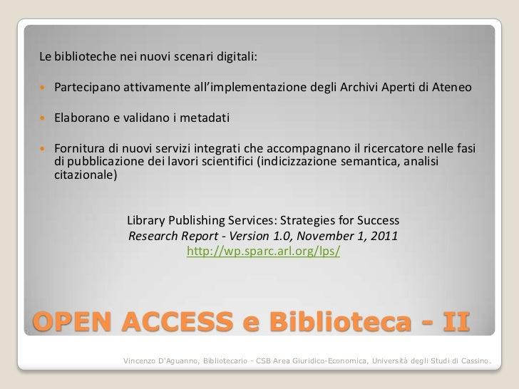 Learn share advance. La Biblioteca e i nuovi modelli della comunicazione scientifica Slide 3