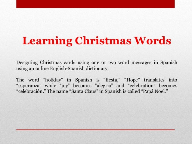 Learn spanish christmas greetings and words happy holidays to all felices fiestas to all m4hsunfo