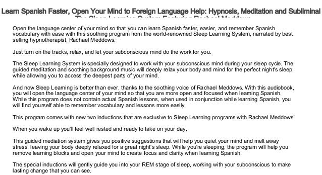 Learn Spanish Faster, Open Your Mind to Foreign Language
