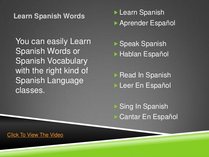  Learn Spanish  Learn Spanish Words                             Aprender Español   You can easily Learn      Speak Span...